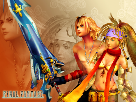 Tidus and Rikku Wallpaper 01 by mylochka
