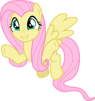 Fluttershy (flying hug vector) by davidsfire