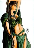 Lady Elf colored by brionius