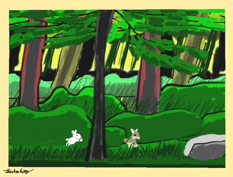 Morning in the forest. by landonbay