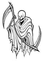 Grim Reaper tattoo by SargeCrys