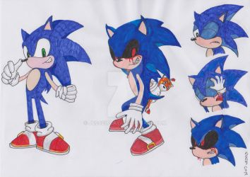 Sonic turning Evil by Jess23play