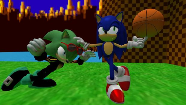 Sonic and Scourge: Friendly Competition by jm0364