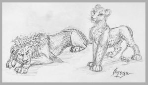 Quick sketches by OmegaLioness