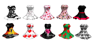MMD Dress Pack DL... by cherrybreeze13