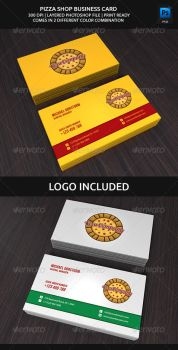 Pizza Shop Business Card by aykutfiliz