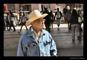 Old man in New York by Arsiema