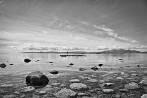 Ardrossan looking out to the Isle of Arran by BusterBrownBB