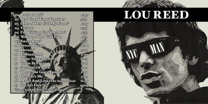 Lou Reed CD Pop-Art #1 by KRPgraphics