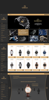Omega watches - Web Design by KamilBachanek