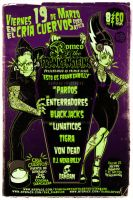 PSYCHOBILLY SHOW POSTER by benestrada