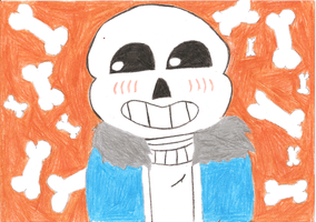 Sans skeleton by SakuraBlossom192