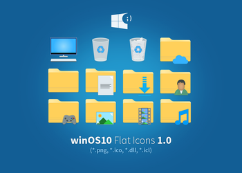 winOS10-Flat-v1 by pl-creative