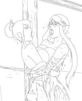 Kasuga vs Nouhime 3 - uncolored by 130796