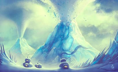 Ice Volcano by soon38