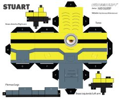 cubeecraft minion Stuart by Donmanny1696