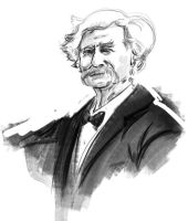 Mark Twain Sketch by willhpacheco