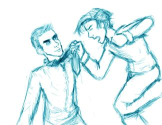 Peter vs. Sylar - WIP 2 by Texas-Guard-Chic
