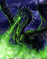 Emerald Flames by h0wr