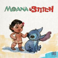 Moana and Stitch by patrickdeza