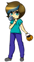 Halloween YCH commission herobrine by Mars-Arts