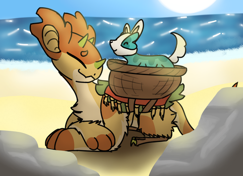 By the Sea ~ Wyngro by Wintercat96