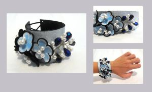 Leather floral corsage-4 by julishland