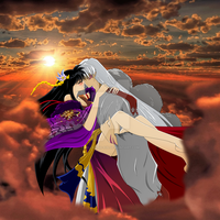 Rin and Sesshomaru, Kiss in the Sky by inu-sessh-rin