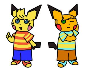 Lucas Claus Pichu Crossover by Chrisstiger