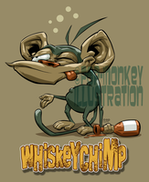 WHISKEY-CHIMP by pop-monkey