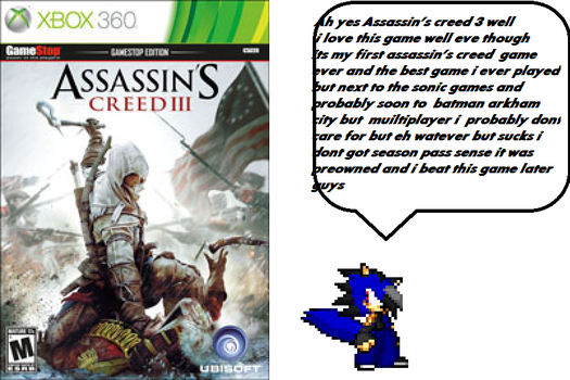 my thoughts on Assassin's creed 3 by Radichedgehog25