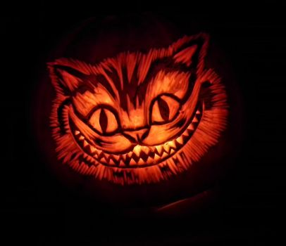 Chesire Cat Pumpkin by Noweia