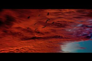 Escape from burning sky. by OloS