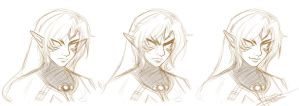 Fierce Deity Link Sketch by HolyLilium