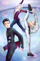 Yuri!!! on Ice - 1 Year Anniversary by ScribblesByJosie