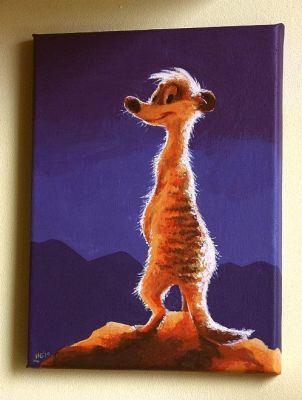 Meerkat painting by Henrieke