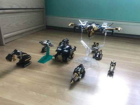 Black and Gold GoGo Vehicles by SentaiFive