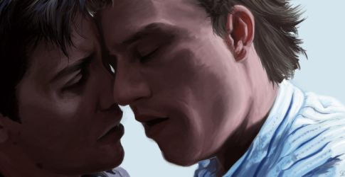 Brokeback Mountain painting - reunion by Aquila--Audax