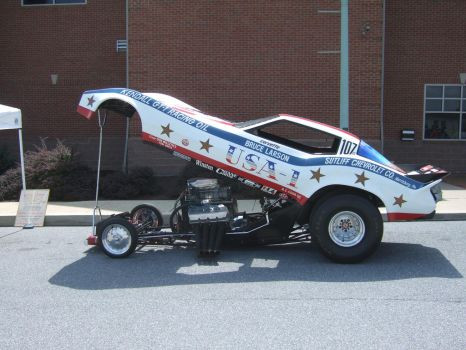 USA-1 Corvette Funny Car by Aya-Wavedancer
