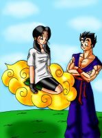 Videl's First Time On Nimbus by MissKisa