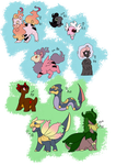 PCC - fluffs and dragons - clutch (OPEN-8/9) by Artemideus