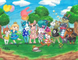 The Citizens of Peony (Animal Crossing New Leaf) by Kerrie-Jenkins