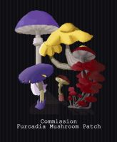 COMMISSION - Furc Mushroom Patch by PointyHat