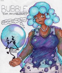 Human Bubble, BFB by CalebSketch