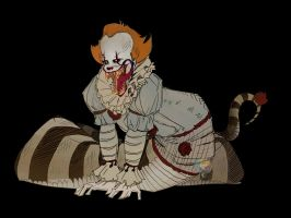 Snek Pennywise by ButeonineOwl