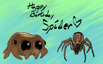 Happy Birthday Spider by WolfyTheBlackWolf