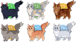 CAT ADOPTABLES - 3/6 OPEN $4 / 400 POINTS by recovery-paws