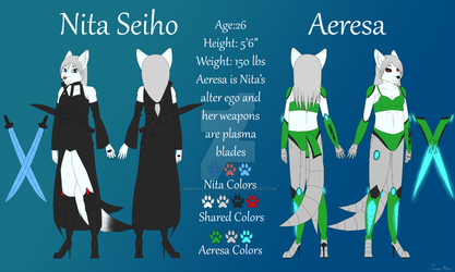 [Commission] Nita and Aeresa Reference Sheet by Dragon-Lover18402