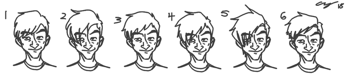 The Evolution of Rusty's Haircut by yeIIer