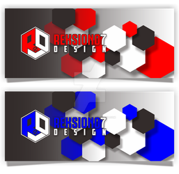 Abstract Hexagon Banner Template by Reksiono7Design